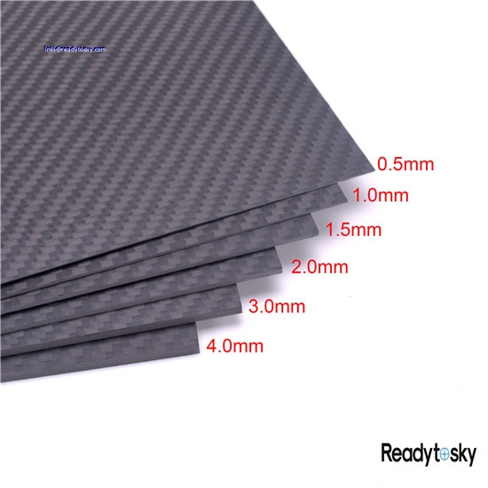 Width Carbon Fiber Sheet with 3k Plain Woven - Thickness Length 1mm 300mm Accessories 200mm Color: 200x300x2.5
